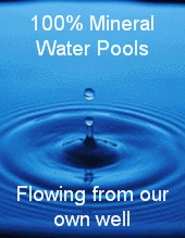 Mineral water pools at Living Waters Spa
