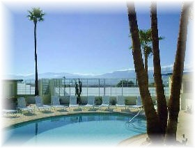 Mineral Water Pool at Nudist Resort in Palm Springs / Desert Hot Springs